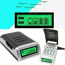 More details for lcd display intelligent fast battery charger for aa aaa rechargeable batteries