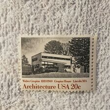 Architecture Us  20 Cent  Stamp 1883- 1969 Gropius House of Lincoln Ma.