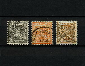 (YYAO 858) Wurttemberg 1916 USED OFFICIAL DIEN Mich 237 - 239 Germany