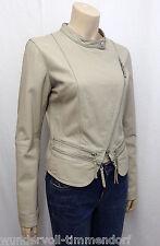 479€ NEU SUGAR STATION Designer Lederjacke Gr.L 40 Leder Jacke Jacket Beige 3618