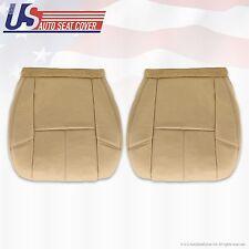 2007 -2012 Tahoe Yukon Suburban Driver & Passenger Bottom Leather Seat Cover Tan