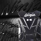 Real Carbon Fiber 3D Customize Fuel Tank Pad+Black Emblem Sticker for Ninja ZXR