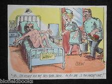"""Clifford C Lewis """"angolo di scotta"""" COLORATO A MANO CARTOON-HOSPITAL Bed Bath paziente #395"""