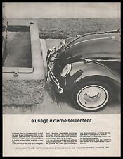 Publicité Volkswagen VW Coccinelle Beetle car photo vintage ad  1965 -1j