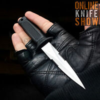 SILVER SURVIVOR HUNTING FIXED BLADE KNIFE Survival Bowie Combat Dagger w/ SHEATH
