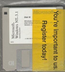 "Microsoft Windows NT Series 3.1 ~ Disks 18-22  ~ 3.5"" disk 1993"