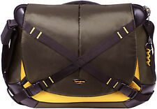 "New SAMSONITE Protea Laptop Protecting Business MESSENGER Shoulder Bag 15"" Brown"