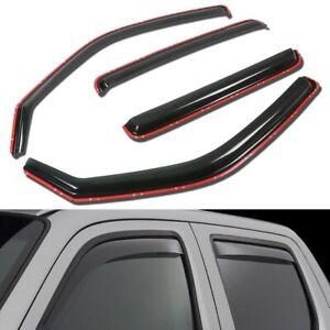 For 2006-2014 Honda Ridgeline Smoked Window Visor Sun Rain Guard Wind Deflector