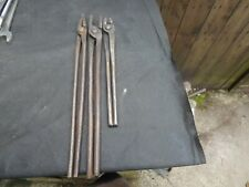 3 x vintage pairs of blacksmiths tongs. Brades 1940. Crows foot mark