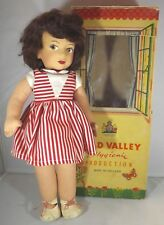 Vintage 1950s Boxed 39cm Chad Valley Cloth Doll - Felt Face, Lovely Painted Eyes
