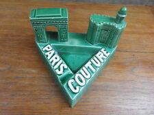 CENDRIER VINTAGE 70's PARIS COUTURE Creation CC PERPIGNAN Arc Triomphe Castillet