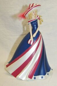 """Thomas Kinkade """"The Rockets' Red Glare"""" Figurine ~Freedom in Fashion Collection"""