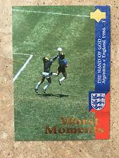 1997 Upper Deck England Soccer Card - DIEGO MARADONA Hand of God Mint