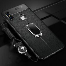 Soft Silicone Leather Back Case iPhone X XR XS Max Magnetic Car Holder 8 7 Plus