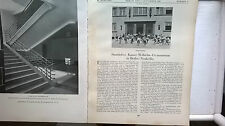 1929 37 Berlino Neukölln Imperatore Wilhelm Gymnasium/Sydney porto