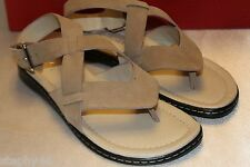 NEW! DONALD J PLINER Powder Kid Suede GESSI Ankle Strap Thong Sandals 6 M $198