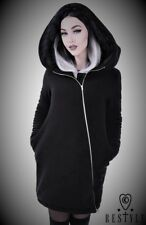 Restyle Luxury Long Huge Hood Black Jacket Hoodie Coat for Gothic Emo Punk Women