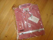 Almsach Kinder Trachtenhemd  rot Gr 80/86 92/98 104/110 116/122 128/134 152/158