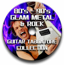 80's - 90's GLAM METAL & ROCK GUITAR TAB TABLATURE SOFTWARE CD