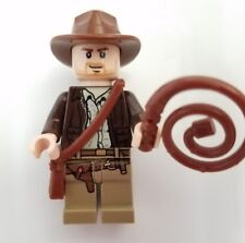 LEGO Indiana Jones Minifigure with whip and satchel lot Harrison Ford