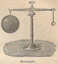 A0846 Baroscopio - Stampa Antica del 1911 - Xilografia