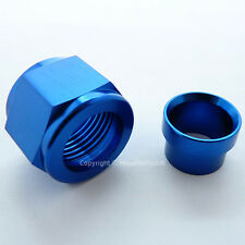 AN-8 (3/4x16 UNF) ALUMINIUM 1/2 TUBE NUT SLEEVE Hardline Pipe Fitting