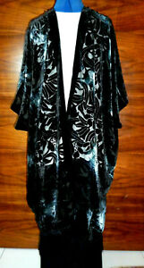 Velvet unstructured jacket. Size to 28. Black/grey/silver NEW
