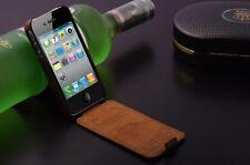 iPhone 4 Schutzhülle Für 4s Tasche Farbe Braun Leder Top Luxus Cover Flip Klappe