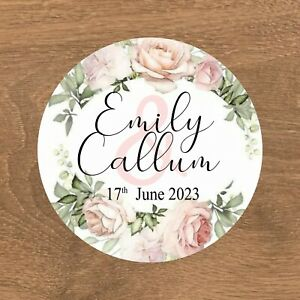 Personalised Wedding Stickers Favour Labels (E-031)