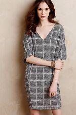 Anthropologie Bella Luxx Black & White Paned Cocoon Dress Tunic Shift M 8 10