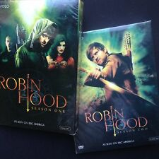 ROBIN HOOD Seasons 1+2 five-disc DVD boxsets BBC America Jonas Armstrong R1 NTSC