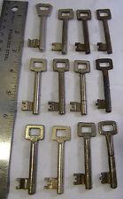 12- Vintage Skeleton Keys Solid cabinet, furniture, door trunk antique key