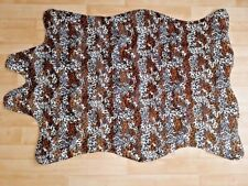 Faux Animal Skin Jaguar Leopard Print Pattern Floor Rug Mat 100 X 150cm