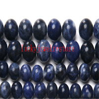 """Natural Stone Old Blue Sodalite Round Loose Beads 15"""" WW24"""
