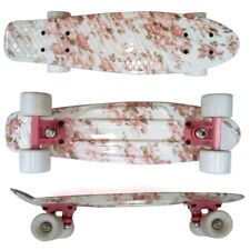 22 Cruiser Skateboard Penny Style Board Graphic Pink Floral Free Shipping