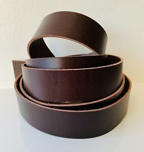 150cm long Dark Brown Leather Strap Belt Blank Strap various width 2.5 mm thick