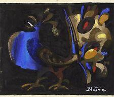 Claude BLEYNIE(1923-2016) Coq du soir: gouache sur papier Levallois