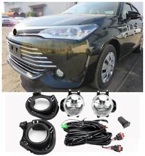 Bumper Fog Light w/Bulb Switch Wire Bezel For Toyota Corolla Axio 2016 2017