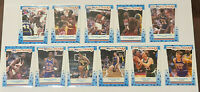 1989-90 NBA Fleer All-Stars Set Sticker/Cards 1-11 (Jordan, Magic, Bird etc)