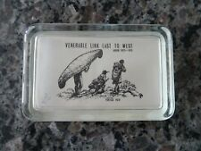 Limited Edition The Old Portage Glass Co. #2/45 Paperweight Akron Picture