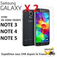 2 x Verre Trempé Film de protection d'écran pour Samsung Note 3 ★ Note 4 ★Note 5