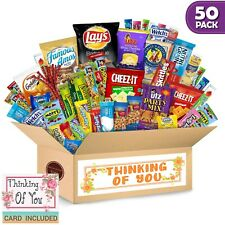 Thinking of You Care Package (50 Count) Ultimate Sampler Bars, Cookies, Chips