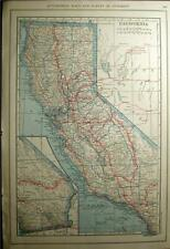 New Listing1921 California Nv Ut State Automobile Road Highway Town Map Auto History