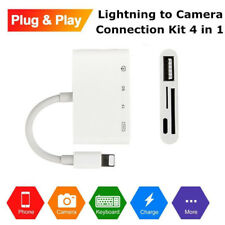 4 in 1 Lightning to Camera SD TF USB Card Reader Adapter Cable For iPhone iPad