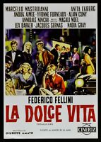 Cartel El Dulce Vida Federico Fellini Anita Ekberg Marcello Mastroianni B