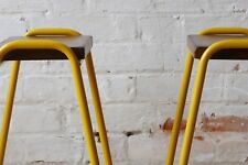 Vintage Retro Industrial Stacking Science Lab School Cafe Bar Kitchen Stools NEW