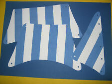 kpl. Segel Satz für Lego Piratenschiff z.B. 6274 blau/weiß gestreift Cloth Sail