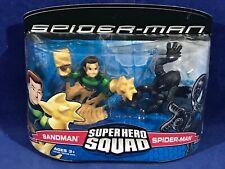 SANDMAN & BLACK COSTUME SPIDER-MAN - Super Hero Squad Figure 2-Pack Set 2007