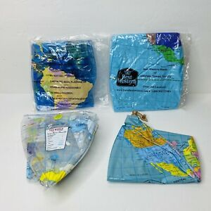 inflatable world globe Lot Of 4 Educational Float Collectable Best Western