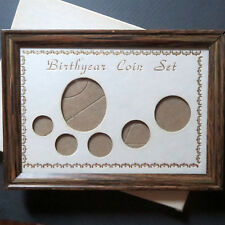BIRTHYEAR COIN SET PHOTO FRAME, 5-Coin Birthyear Photo Frame, Light Brown Color